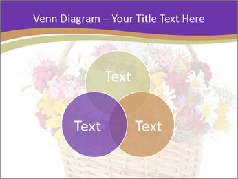 Beautiful bouquet of bright wildflowers PowerPoint Template - Slide 33
