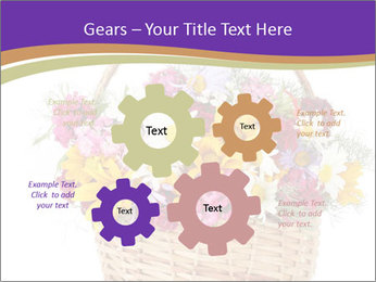 Beautiful bouquet of bright wildflowers PowerPoint Template - Slide 47