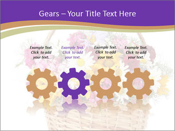 Beautiful bouquet of bright wildflowers PowerPoint Template - Slide 48