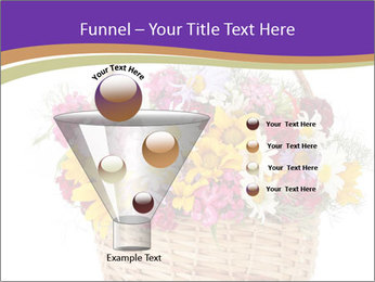 Beautiful bouquet of bright wildflowers PowerPoint Template - Slide 63