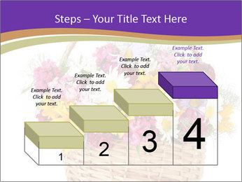 Beautiful bouquet of bright wildflowers PowerPoint Template - Slide 64