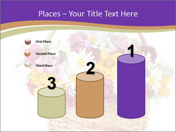 Beautiful bouquet of bright wildflowers PowerPoint Template - Slide 65