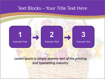 Beautiful bouquet of bright wildflowers PowerPoint Template - Slide 71