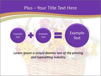 Beautiful bouquet of bright wildflowers PowerPoint Template - Slide 75