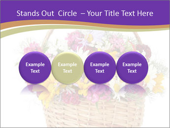 Beautiful bouquet of bright wildflowers PowerPoint Template - Slide 76