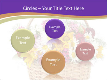 Beautiful bouquet of bright wildflowers PowerPoint Template - Slide 77