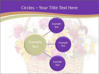 Beautiful bouquet of bright wildflowers PowerPoint Template - Slide 79