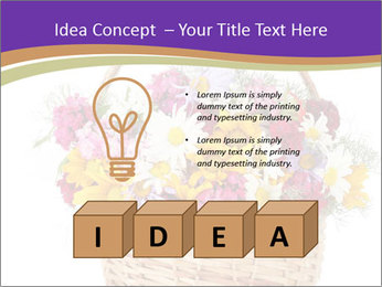 Beautiful bouquet of bright wildflowers PowerPoint Template - Slide 80