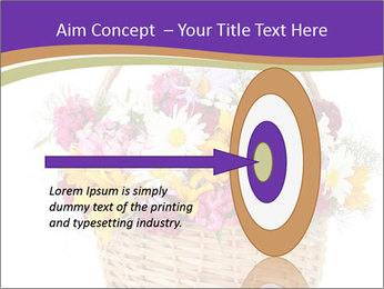 Beautiful bouquet of bright wildflowers PowerPoint Template - Slide 83