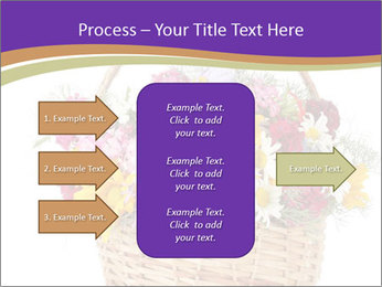 Beautiful bouquet of bright wildflowers PowerPoint Template - Slide 85