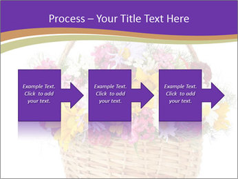 Beautiful bouquet of bright wildflowers PowerPoint Template - Slide 88