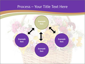 Beautiful bouquet of bright wildflowers PowerPoint Template - Slide 91