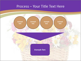 Beautiful bouquet of bright wildflowers PowerPoint Template - Slide 93