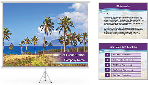 Palm trees PowerPoint Template