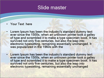 Palm trees PowerPoint Template - Slide 2