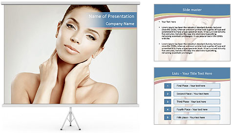 Perfect skin PowerPoint Template
