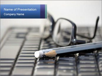 Laptop keyboard PowerPoint Template