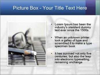 Laptop keyboard PowerPoint Template - Slide 13