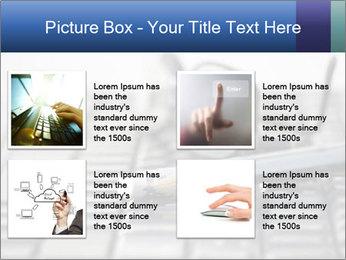 Laptop keyboard PowerPoint Template - Slide 14