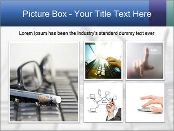 Laptop keyboard PowerPoint Template - Slide 19