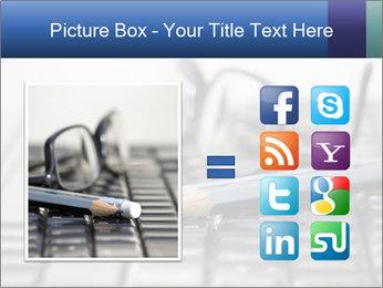 Laptop keyboard PowerPoint Template - Slide 21