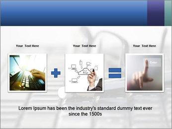 Laptop keyboard PowerPoint Template - Slide 22