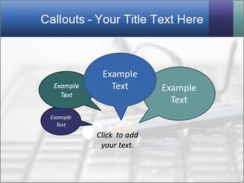 Laptop keyboard PowerPoint Template - Slide 73