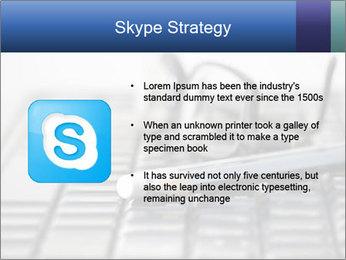 Laptop keyboard PowerPoint Template - Slide 8