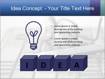 Laptop keyboard PowerPoint Template - Slide 80