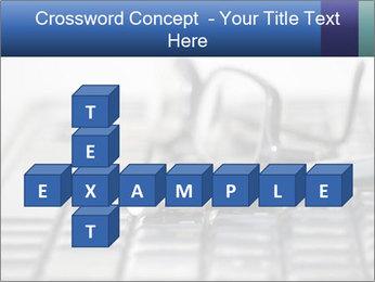 Laptop keyboard PowerPoint Template - Slide 82