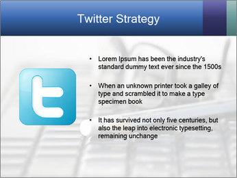 Laptop keyboard PowerPoint Template - Slide 9