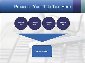 Laptop keyboard PowerPoint Template - Slide 93