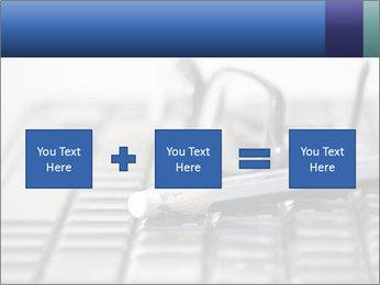 Laptop keyboard PowerPoint Template - Slide 95