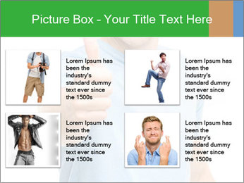 Happy man giving thumbs up sign PowerPoint Template - Slide 14