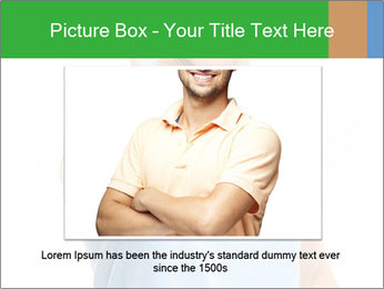 Happy man giving thumbs up sign PowerPoint Template - Slide 15