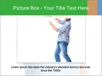 Happy man giving thumbs up sign PowerPoint Template - Slide 16