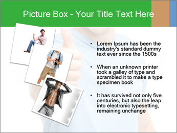 Happy man giving thumbs up sign PowerPoint Template - Slide 17