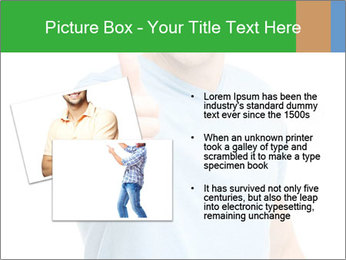 Happy man giving thumbs up sign PowerPoint Template - Slide 20