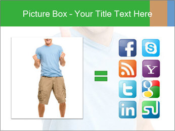 Happy man giving thumbs up sign PowerPoint Template - Slide 21