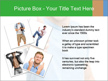 Happy man giving thumbs up sign PowerPoint Template - Slide 23