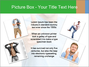 Happy man giving thumbs up sign PowerPoint Template - Slide 24