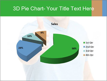 Happy man giving thumbs up sign PowerPoint Template - Slide 35