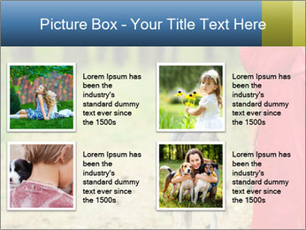 The girl with a wolf PowerPoint Template - Slide 14
