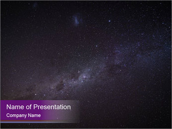 The Milky Way in the night sky PowerPoint Template - Slide 1