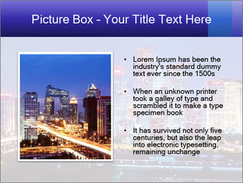 Beijing after sunset-night scene PowerPoint Template - Slide 13