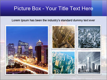 Beijing after sunset-night scene PowerPoint Template - Slide 19