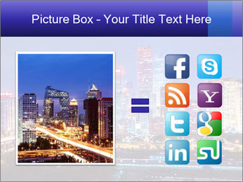 Beijing after sunset-night scene PowerPoint Template - Slide 21