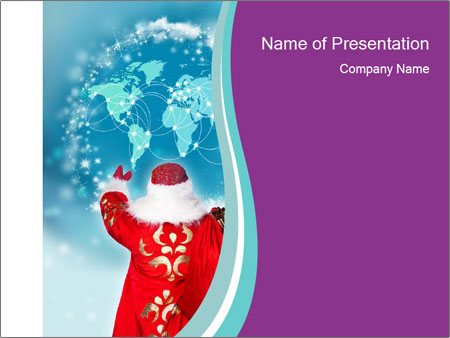 Santa Claus preparing for Christmas PowerPoint Templates