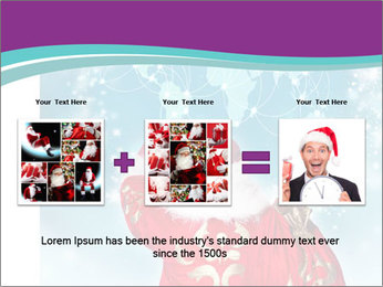 Santa Claus preparing for Christmas PowerPoint Template - Slide 22