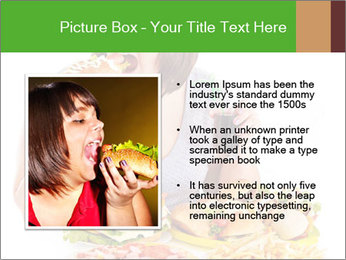 Overweight woman eating PowerPoint Template - Slide 13